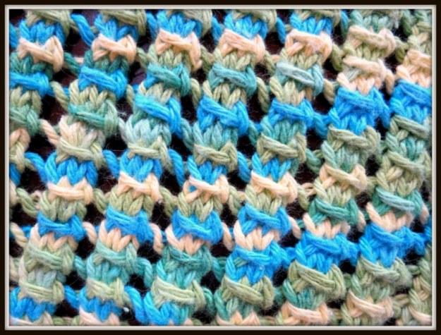 Open Pillar Work Stitch Pattern Dishcloth