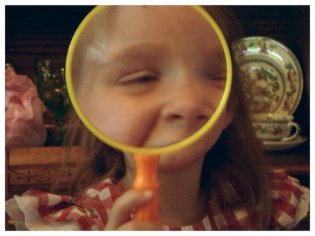 Niece with a Magnifying Glass.