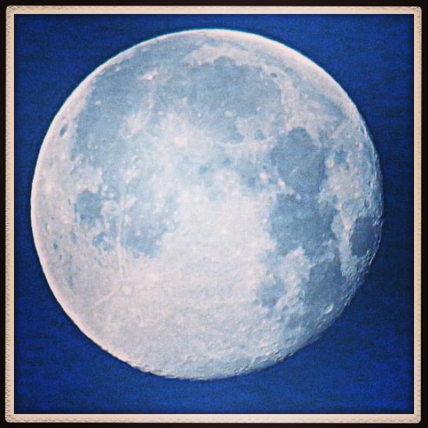 Full Moon at Sunrise