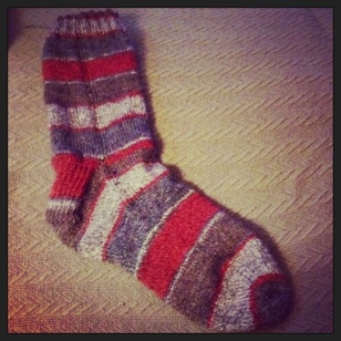 My First Sock! - Needs a Sole Mate