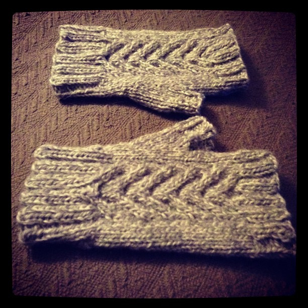 Warm and Fuzzy Fingerless Mitts