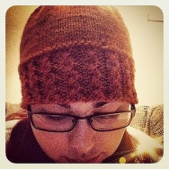 My design - another cabled beanie.