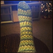 First Sock Done.