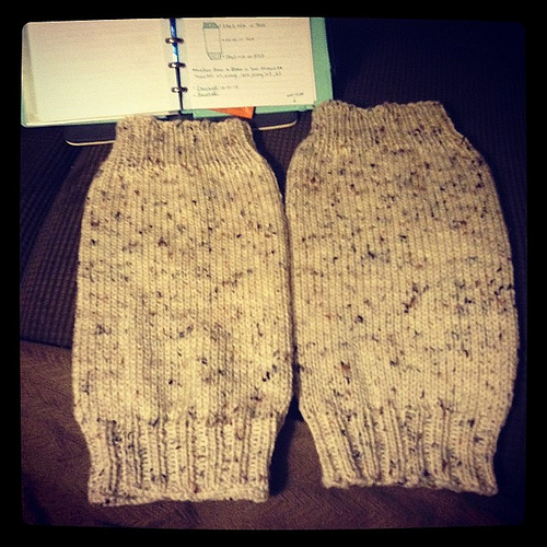 Legwarmers are great for watching movies - and keeping your legs warm.