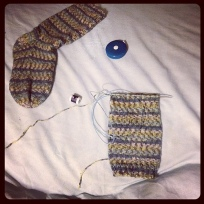 Just in case I couldn't turn the heel with magic loop...