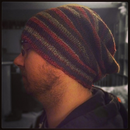 Sock Yarn Beanie for the Loving, Patient, Wonderful, Supportive, Handsome Hubby ;)