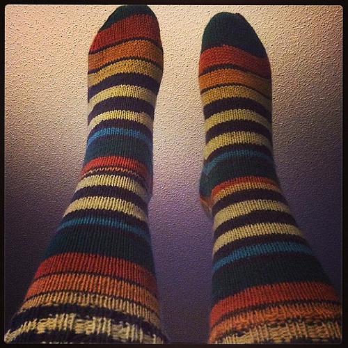 Rusty Stripes Socks by Patons Kroy Socks