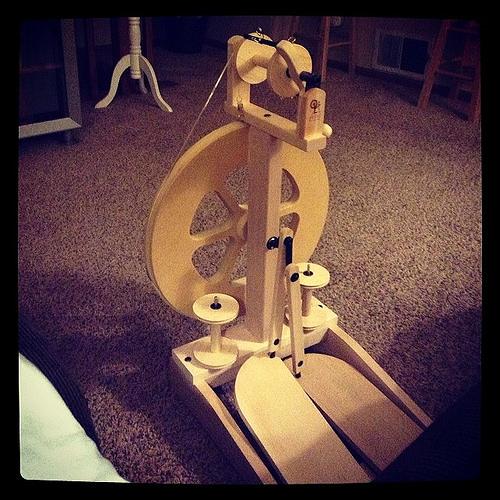 My first spinning wheel!!!!!