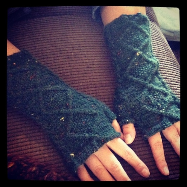 Gloria's Doctor Who Mitts